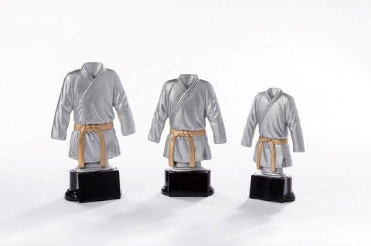 Kampfsport Judo Karate Pokal mit Gravur einzeln oder als als als 3er Serie e65027