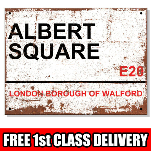 Métal Signes-Albert Carré Walford E20 London Street House SIGNE Rouillé Look UK