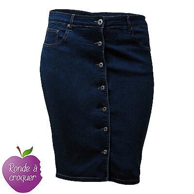 Grande taille - Jupe en jeans boutonnée devant Nana Belle 46 48 50 52 54