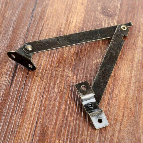 2 X Couvercle Support Charnières Antique Display Stay Lift Up Boîte à Bijoux Armoire Matériel