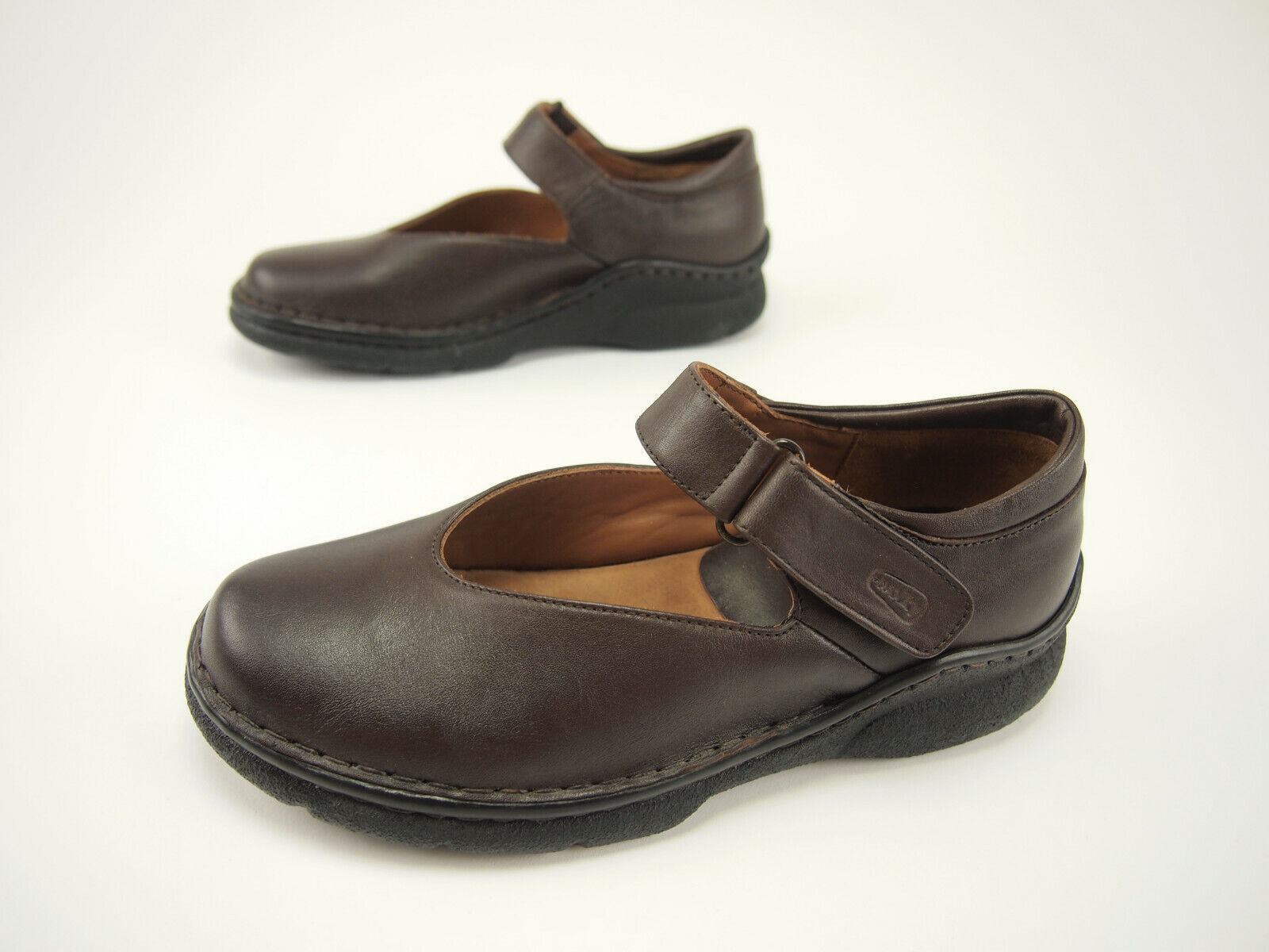 New  Wolky 923 Brown Leather Classic Mary Janes 38 - US 7