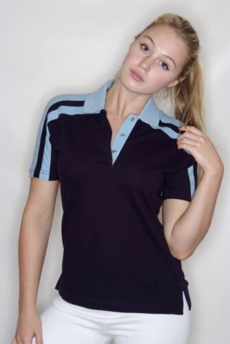 FINDEN /& HALES LADIES RACING  POLO T-SHIRT  LV327 SPORTS TOP SHORT SLEEVED GIRLS