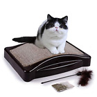 AIDENCOX Cat Scratcher Cardboard, Wide Scratching Post, Toys And Resting Lounge