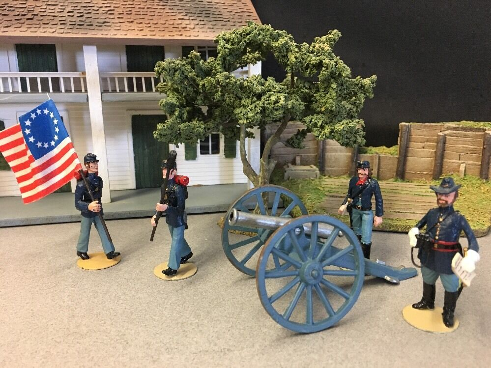 ALYMER SA MADE IN SPAIN metal toy soldiers  A AMERICAN CIVIL WAR UNION 1861