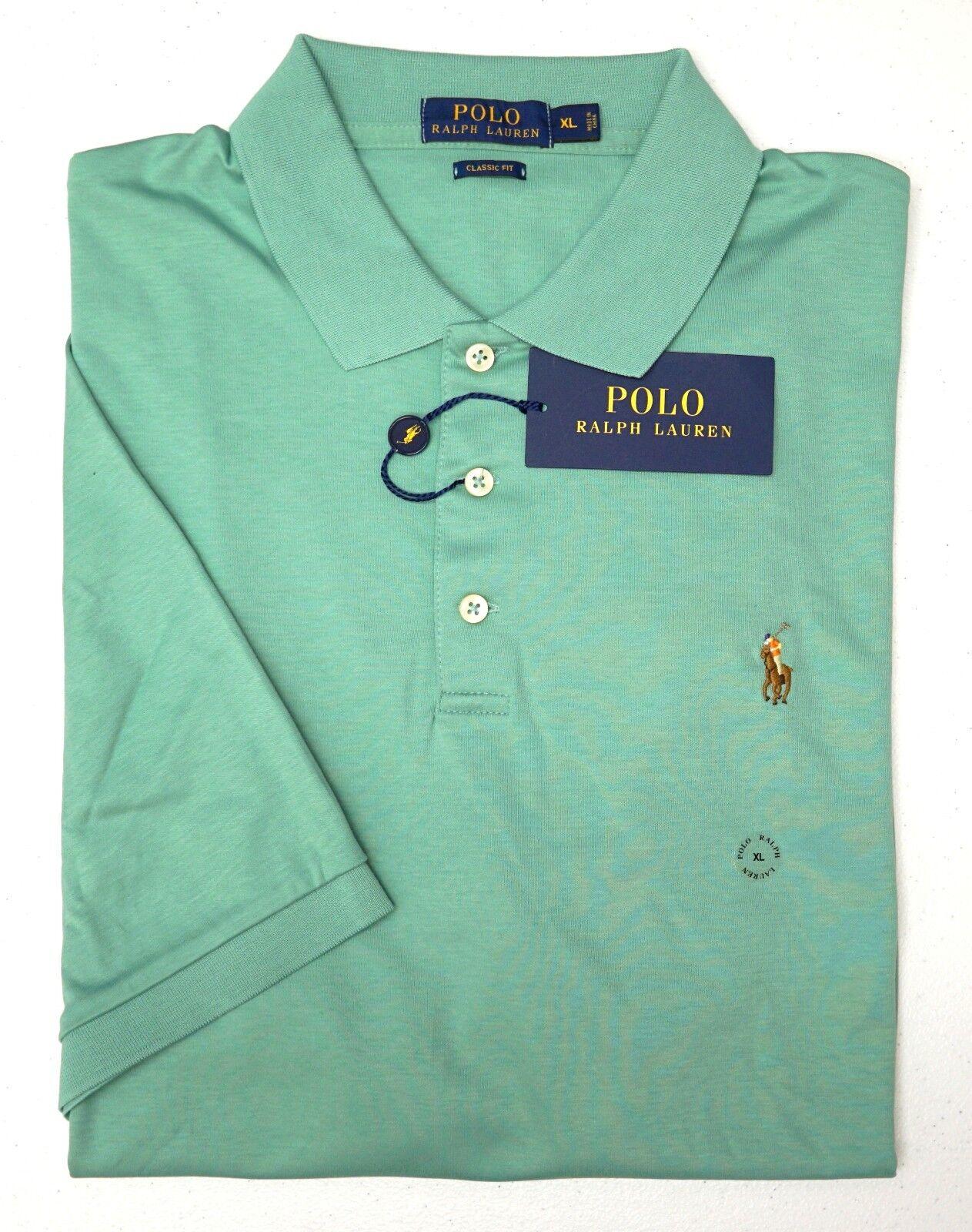 NWT  Polo Ralph Lauren Green SS Classic Fit Shirt Mens Size XL XXL Cotton NEW