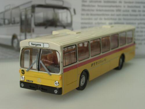 """Brekina mercedes o 305 PTT /""""Sargans/""""//Lichtenstein 50754-1:87"""
