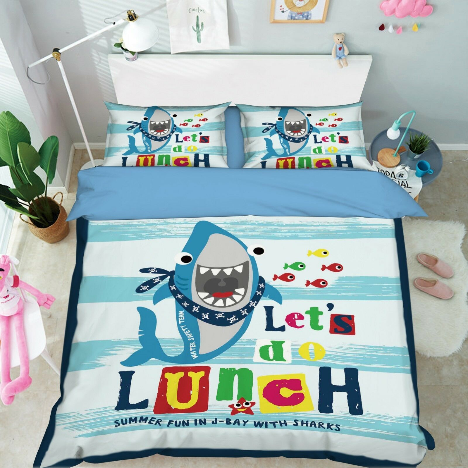3D Cartoon Shark 576 Bed Pillowcases Quilt Duvet Cover Set Single Queen AU Carly
