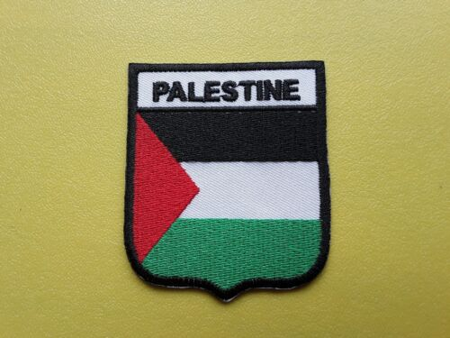 PALESTINE WORLDWIDE FREEPOST COUNTRY SHIELD FLAG SEW /& IRON ON PATCH