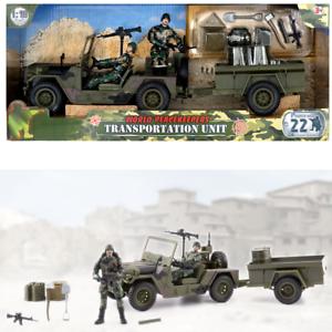 World pacificatori MILITARE trasporto Unità dell/'Esercito del veicolo giocattolo con 2 FICHI