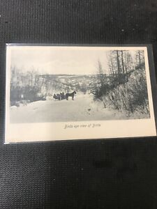 real-photo-postcard-Birds-Eye-View-Of-Birtle-Horses-And-Carriage-A1