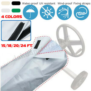 AU-Swimming-Pool-Solar-Roller-Reel-Solar-Blanket-Winter-Cover-Outdoor-Adjustable