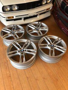 BMW-F12-F13-F06-6-Series-Genuine-M-Double-Spoke-373-20-034-Wheel-Set-Rims-650i-640i