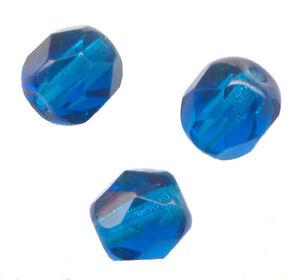 ** 150 Perles Facettes De Boheme 3 Mm Capri Blue Preciosa **