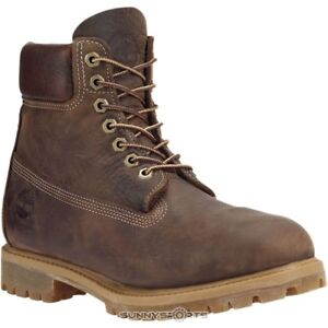 Image is loading MENS-TIMBERLAND-HERITAGE-PREMIUM-BROWN-BURNISHED -LEATHER-WORK- cd852ad1fe53