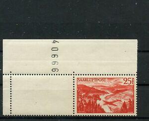 Germany-Saar-Saarland-vintage-yearset-1948-Mi-8521-1oz-Corner-Edge-Mint-MNH
