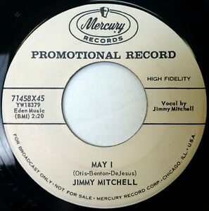 JIMMY MITCHELL 45 May I/Picture Yourself with Me MERCURY pop VG promo jf188