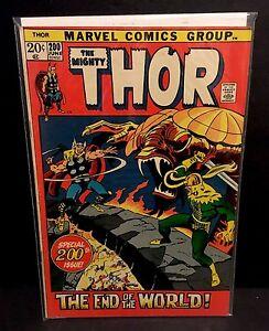 THOR-200-Ragnarok-Loki-End-Of-The-World-Marvel-Comics-Buscema-1972-FN-VF