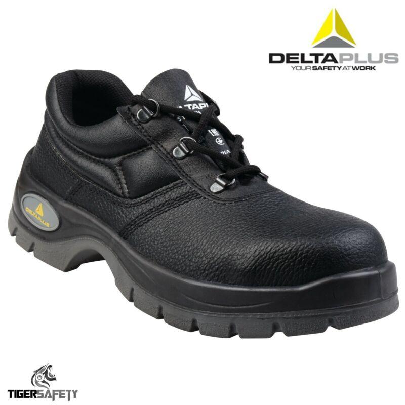 Delta Plus Jet 2 S1 Cuero Negro Dama Puntera De Acero Botas Seguridad Zapatos