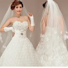 New Design White/Ivory Wedding Prom Bridal Elbow Veil With Comb Free Shipping