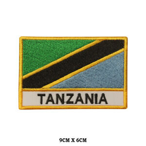 TANZANIA National Flag Embroidered Patch Iron on Sew On Badge For Clothes etc
