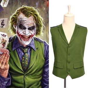 New batman joker vest popular party waistcoat green - Disfraz joker casero ...