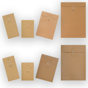 Manilla-String-amp-Washer-Bottom-amp-Tie-Brown-10-25-50-100-Envelopes-Cheapest