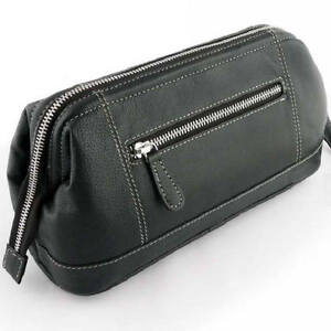 c6b89555ce Image is loading Sonnenschein-Mens-Toiletry-Leather-Bag-Large-Shaving-Travel -