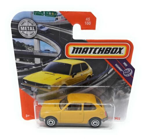 Matchbox MBX Superfast 2020 No 45 Honda CVCC yellow 1976 short blister card