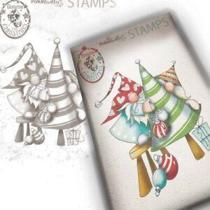 Nuovo-Polkadoodles-Timbri-Clear-Gnome-per-Natale-Decorazione-il-Albero