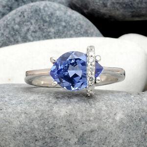 Simulated-Tanzanite-925-Sterling-Silver-Ring-Jewelry-Size-6-9-DRR1105-E