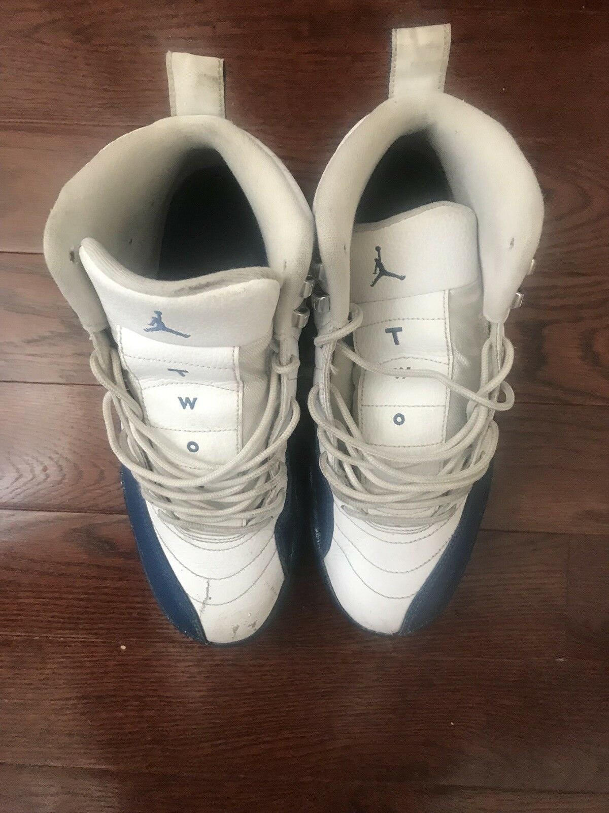 32881f26dea Nike Air Jordan 12 XII Retro French blueee Metallic Silver 130690 113 Sz 10  nccbgn2579-Athletic Shoes