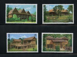 Thailand-1997-1751-4-architecture-houses-4v-MNH-M536