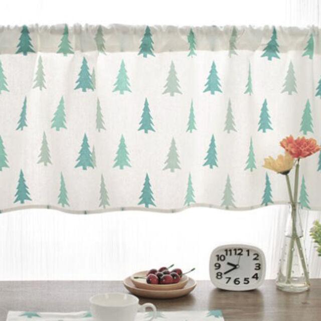 New Linen Kitchen Curtains Natural Window Balcony Short Curtain Panel Decor