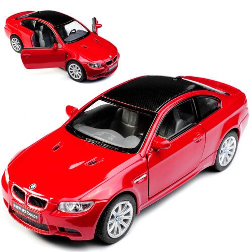 1//43 1//36-1//46 BMW 3er E92 M3 Coupé Rojo con Carbono Tejado 2005-2012 Aprox