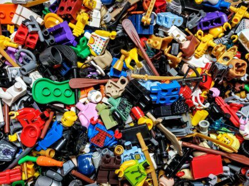 100 Accessories Lego Minifigure Minifig Lot of 10 Random Heads Torsos Legs Hair
