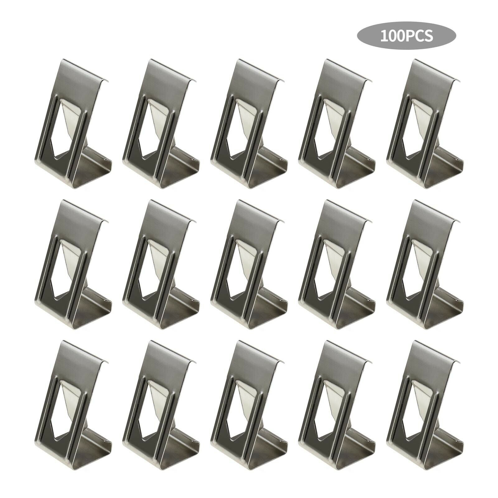 100Pcs 3D Printer Heated Bed Securing Clips Holder Metal Spring Turn Clamps