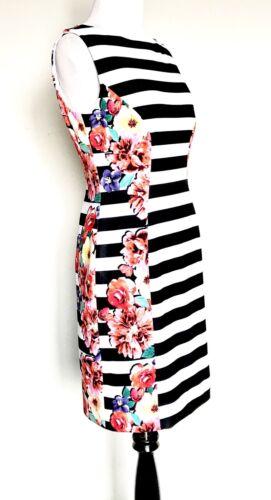 SLevine Arthur streep Prijs59 4pNwt Retail134 Tahari Zwarte bloemenjurk OPNmvn0y8w