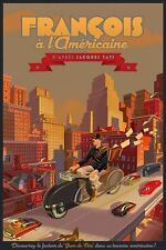 FRANCOIS A L'AMERICAINE JACQUES TATI Laurent DURIEUX limited edition print RARE