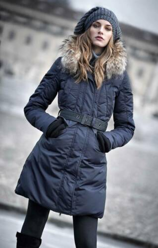 F32 ITALY  WARM FUR WINTER DOWN Jacket COAT Parka Piumino Pelliccia S M L XL