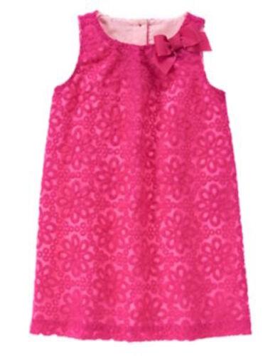 NWT Gymboree Egg Hunt Pink Embroider Dress 4,12 Wedding Easter Girl