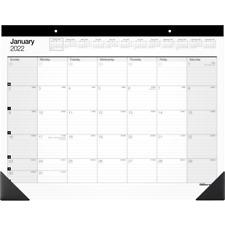 Office Depot Monthly Desk Pad Calendar 22 X 17 White 2022 Sp24d00 Desk