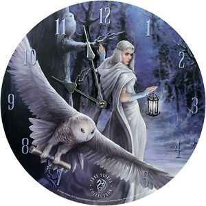 Wanduhr-Midnight-Messenger-Anne-Stokes-34cm-Bilderuhr-UHR-Fantasy-Clock-Mystik