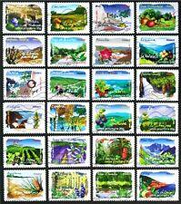 FRANCE 2009 Flora, FLORE DES REGIONS set 24 stamps Used (D444D)