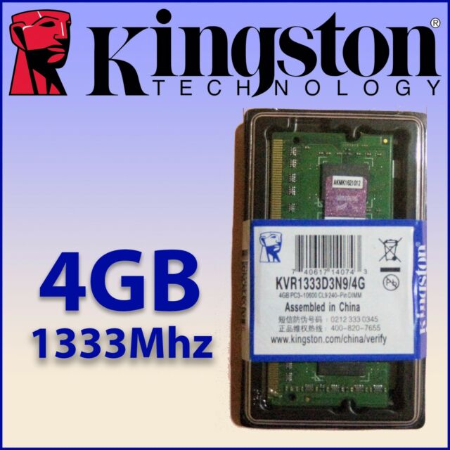 RAM DDR3 4GB 1333Mhz - Para Portátil - Kingston - ¡ NUEVA ! - 100% COMPATIBLE