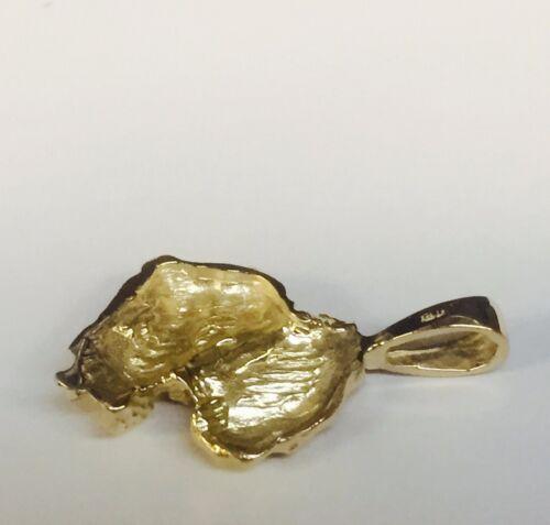 14k Yellow Gold NUGGET design fashion charm Pendant 4 grams