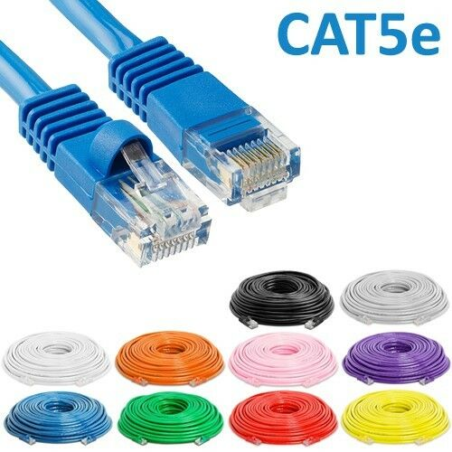 1.5ft to 100ft CAT6 RJ45 Patch Cable Ethernet LAN Network Wire Cord 24AWG CCA