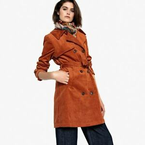 La-Redoute-collections-Belted-Corduroy-Trench-Coat-size-14