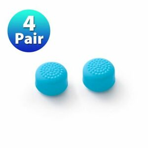 4 Pair Joy Con Thumb Grip Cap Cover Kit for Nintendo Switch & Lite Blue Silicone