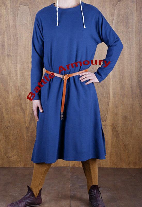 Medieval Tunic Full Sleeveles Blue color renaissance Surcoat SCA Larp PRODUCT D