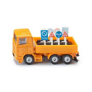 Siku 1322 Scania LKW mit Verkehrszeiche<wbr/>n orange (Blister)  Modellauto NEU! °
